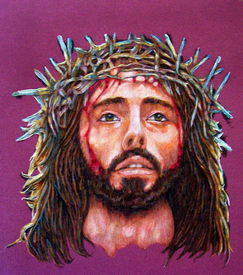 Christ Drawing - Man Of Sorrows No 3 by Edward Ruth