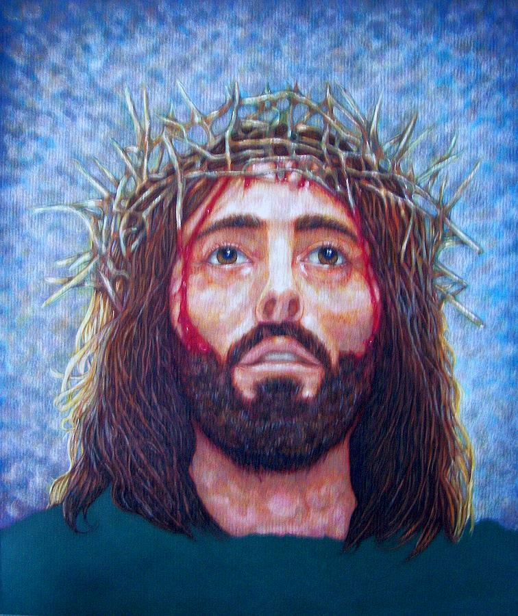 Christ Drawing - Man Of Sorrows No 5 by Edward Ruth