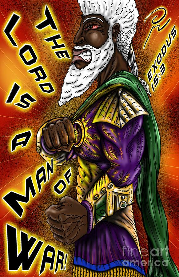 Jesus Christ Digital Art - Man of War Poster Design by Robert Watson