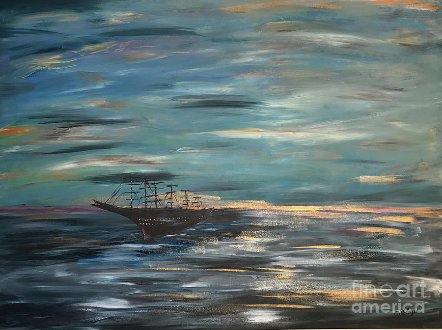 Man Overboard Part One Painting by Heather McKenzie