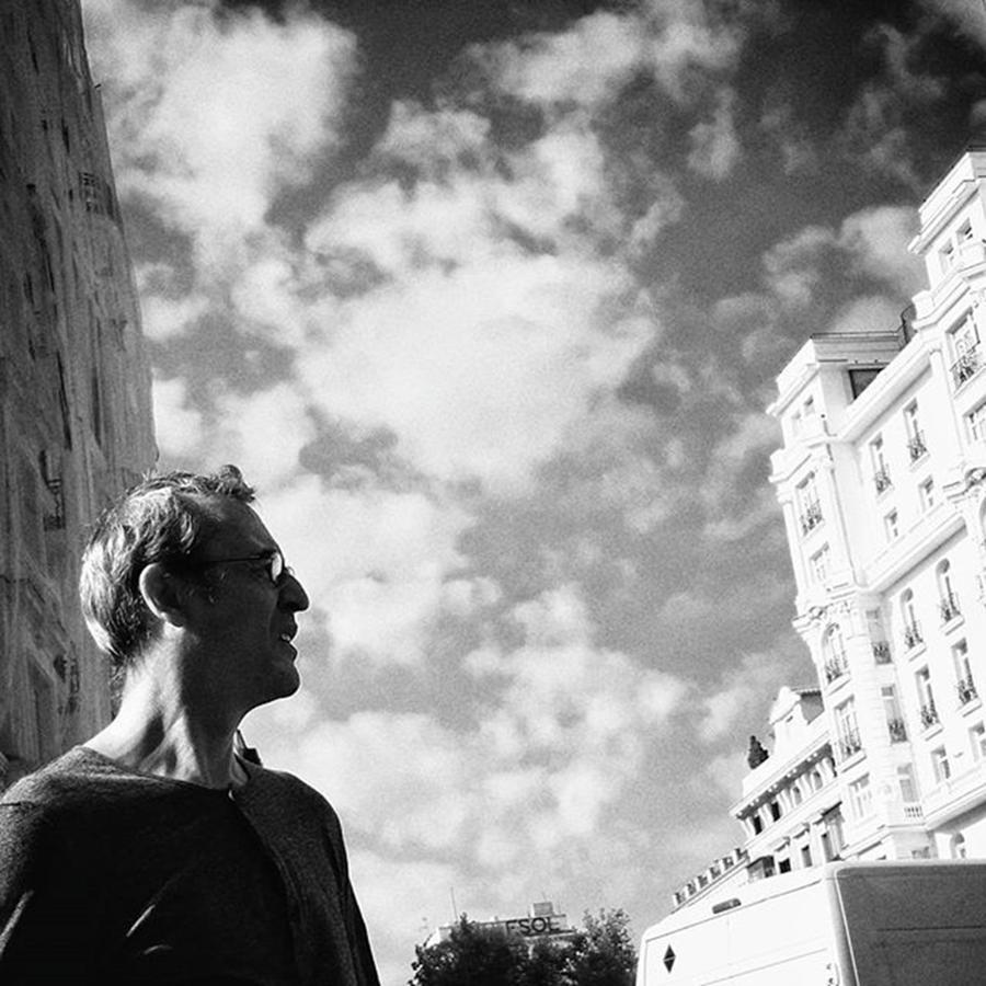 Sky Photograph - #man #people #instapeople #portrait by Rafa Rivas