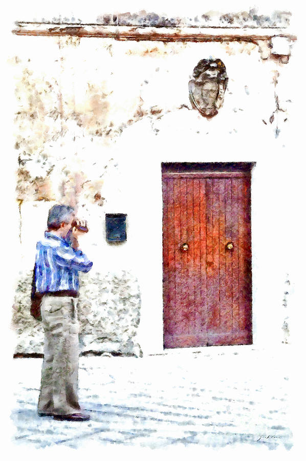 Man Painting - Man Photographing by Giuseppe Cocco