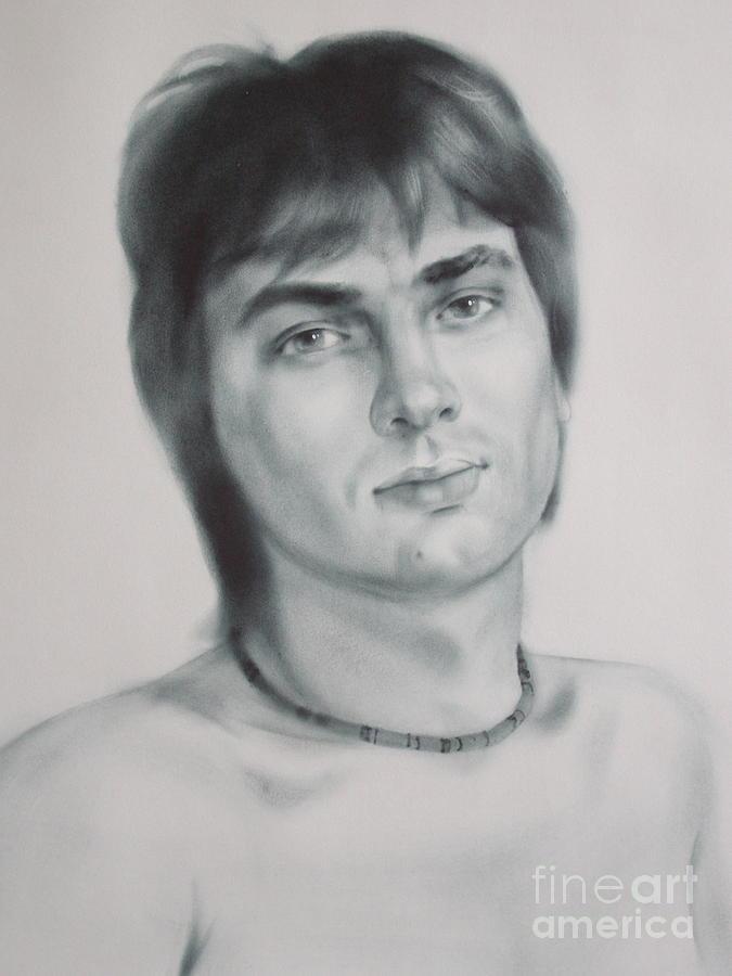 Oil Drawing - Man by Sergey Ignatenko