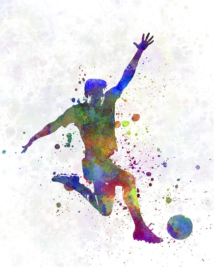 Man Soccer Football Player 05 Painting by Pablo Romero