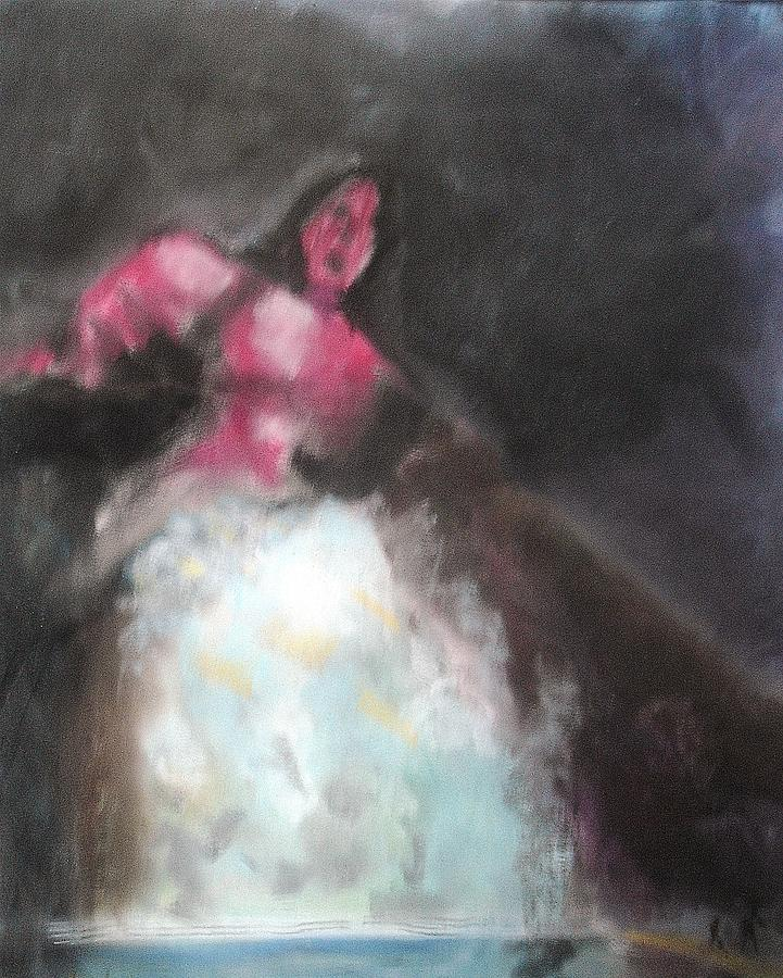 Painting Pastel - Man Taken Under In Lake by Thomas Armstrong
