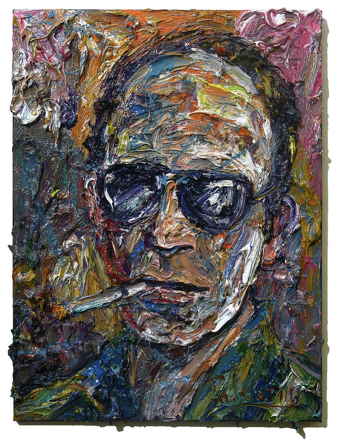 Man Tough Portrait Painting Abstract Wall Art Paintings For Sale Art Isms 3d Oil Painting Tough Pop By David Padworny