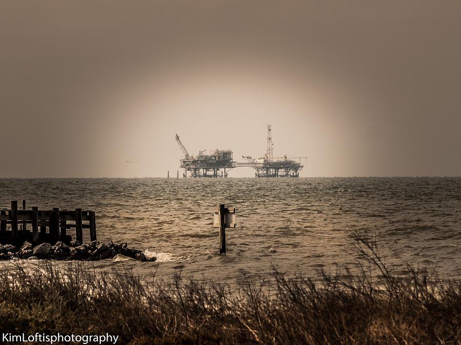 Gulf Photograph - Man Vs Nature  by Kim Loftis