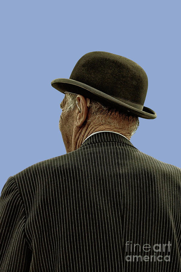Man With A Bowler Hat Photograph