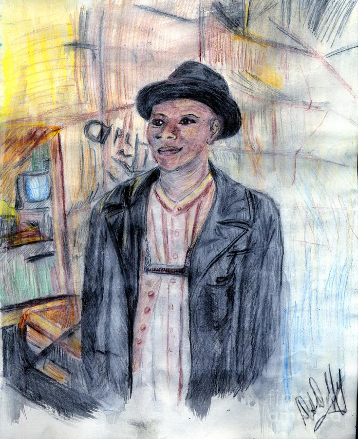 Man With A Harmonica Painting by Deborah Duffy