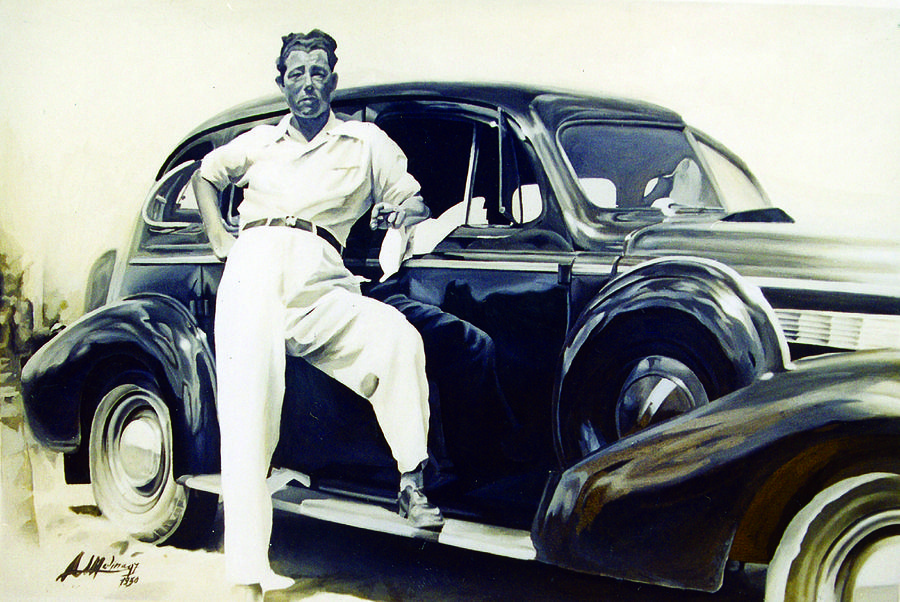 Portrait Painting - Man With Car by Antonio Molina