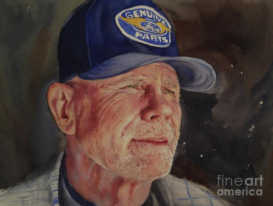 Man with Ford Cap by Kathy Flood