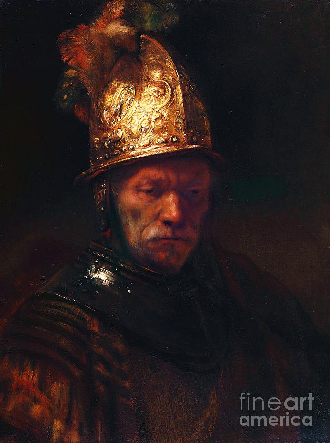 Reproduction Painting - Man With The Golden Helmet by Pg Reproductions