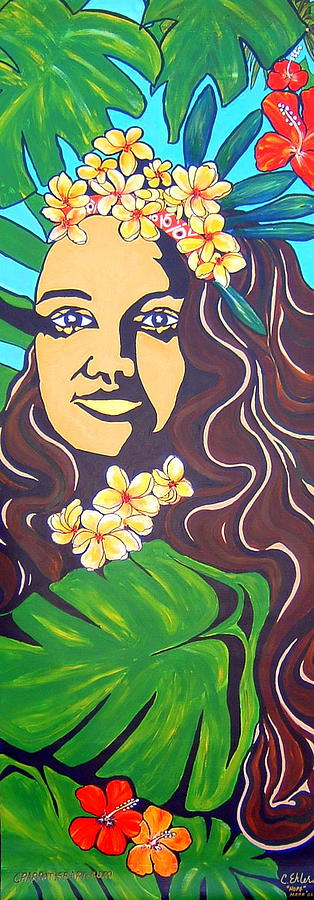 Mana Olana  Means Hope Painting by Cheryl Ehlers