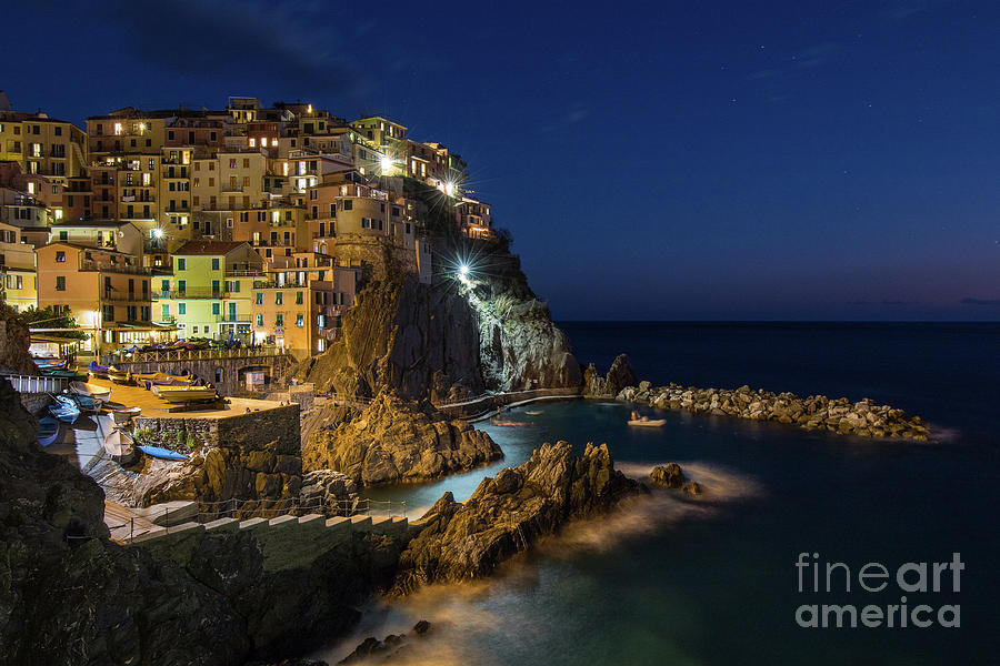 Manarola at Night by Jennifer Ludlum