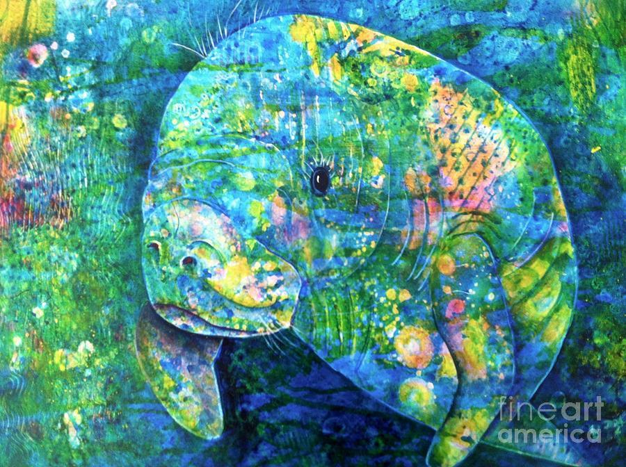 Manatee Painting - Manatee by Midge Pippel