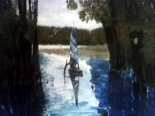 Manatee Springs Painting by Connie Morrison
