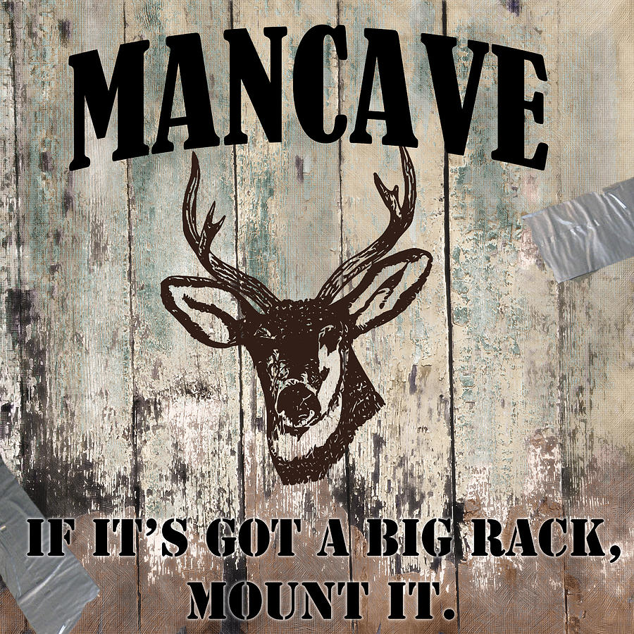 Mancave Painting - Mancave Deer Rack by Mindy Sommers