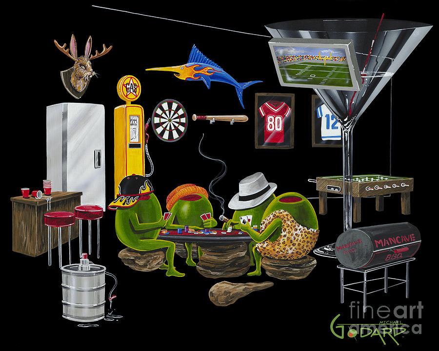 Mancave Painting - Mancave by Michael Godard