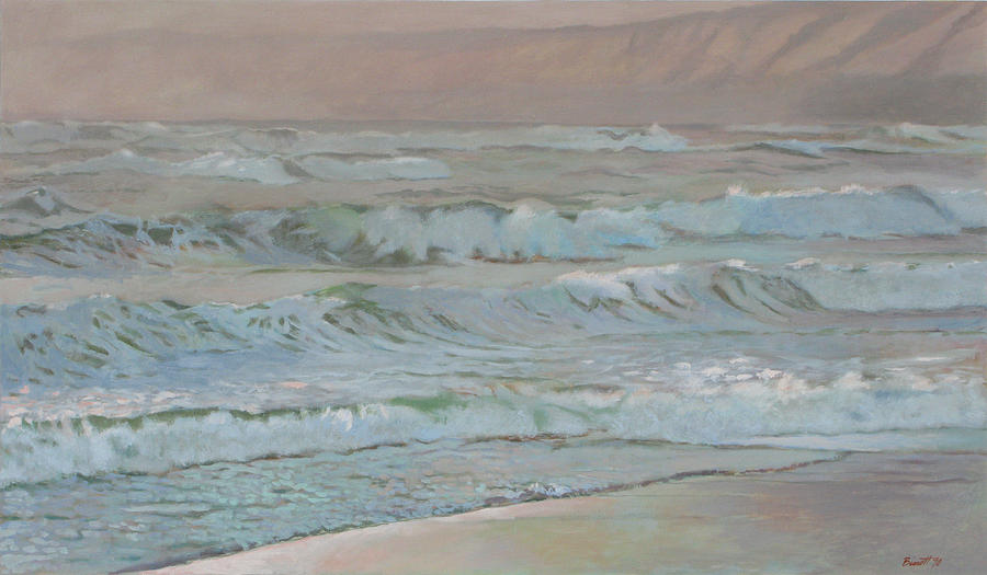Wave Painting - Manchester Beach by Robert Bissett