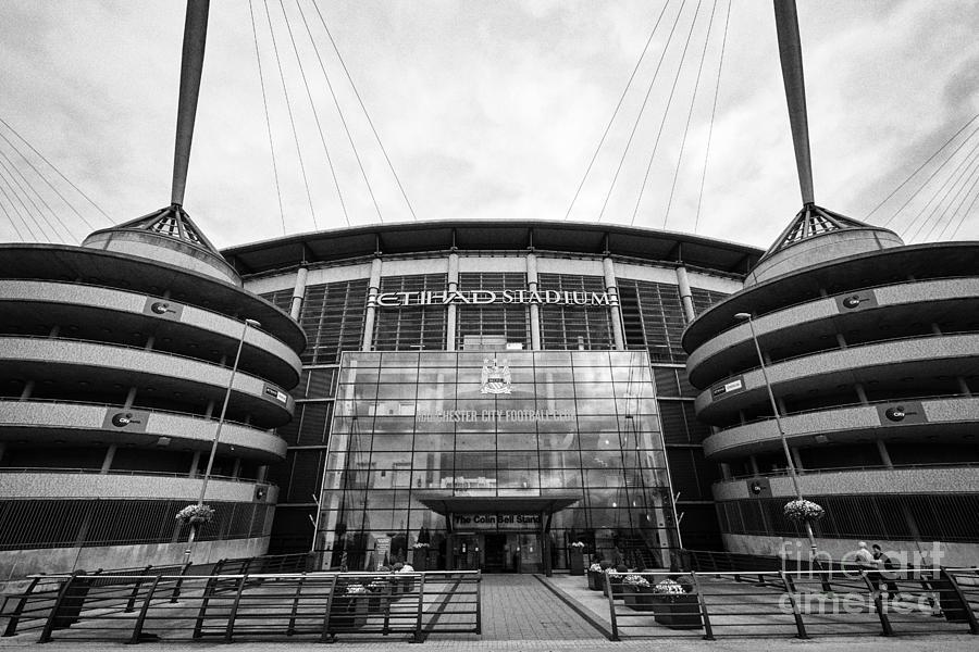 Manchester city photograph manchester city etihad stadium eastlands city of manchester stadium uk by joe