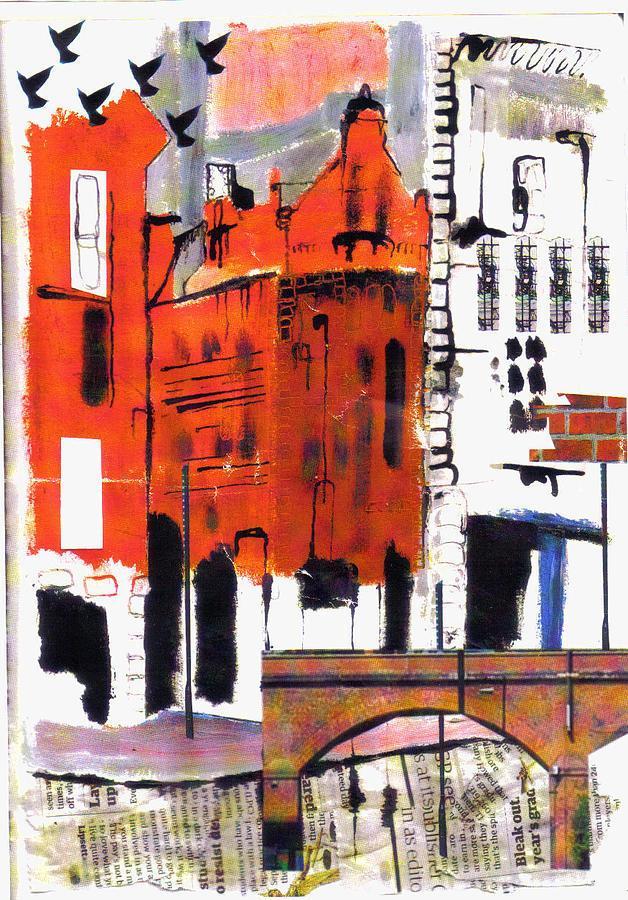 Landscape Painting - Manchester by Nicola-Jayne Seddon