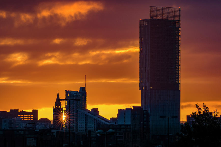 Manchester skyline at dawn by Neil Alexander Photography