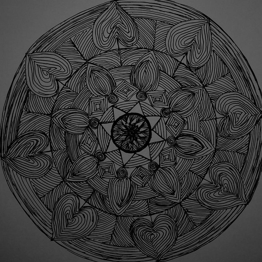 Mandal Drawing - Mandal 1 by Usha Rai