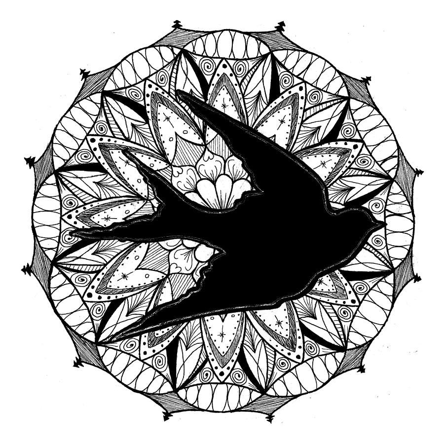 Mandala #11 - Dove in Flight by Eseret Art
