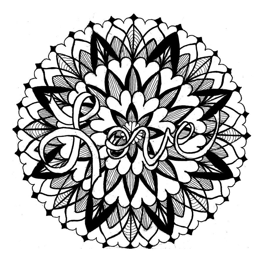 Mandala #12 - Love on the Inside by Eseret Art