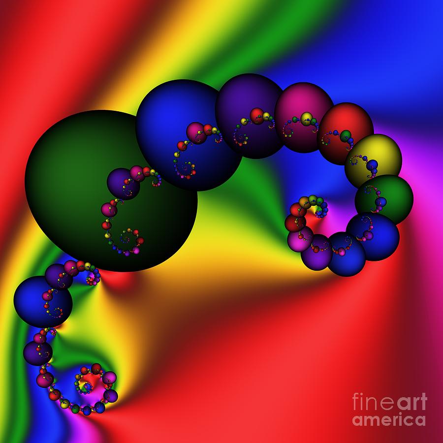 Abstract Digital Art - Mandala 155 by Rolf Bertram