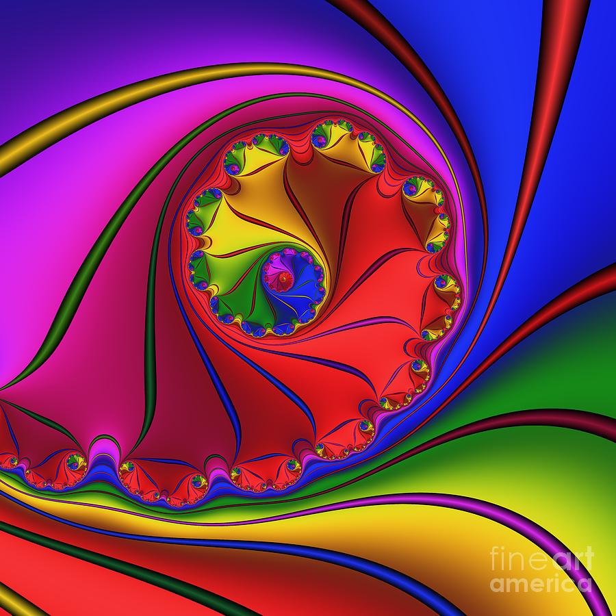 Abstract Digital Art - Mandala 156 by Rolf Bertram