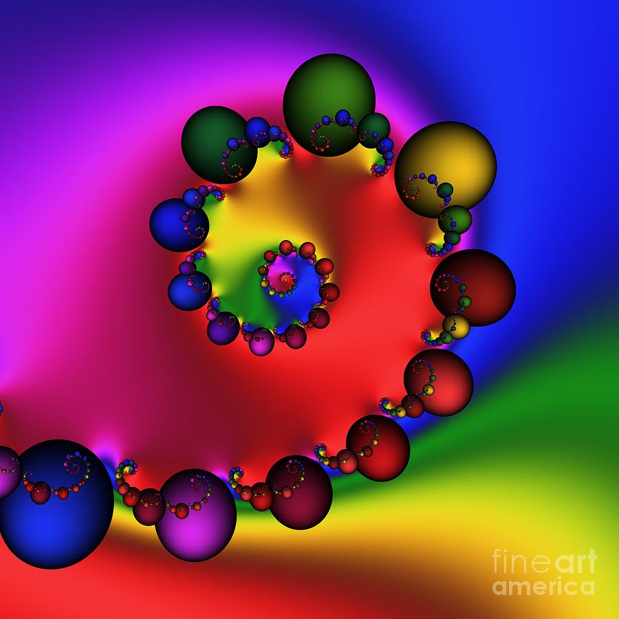 Abstract Digital Art - Mandala 157 by Rolf Bertram