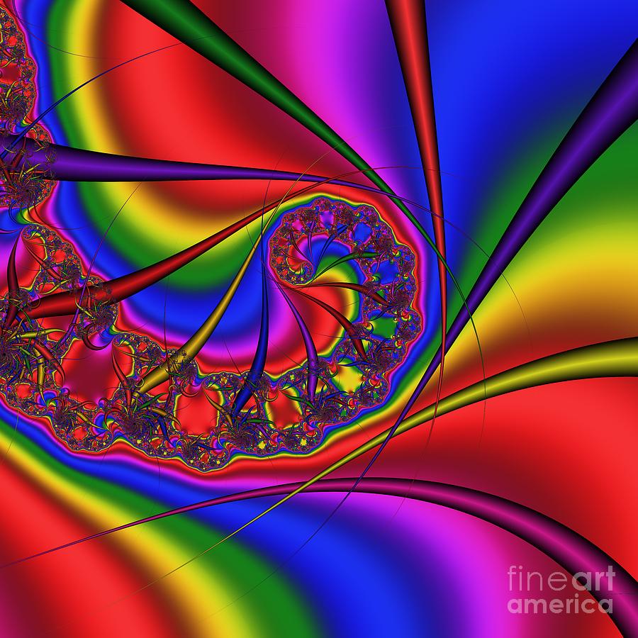 Abstract Digital Art - Mandala 163 by Rolf Bertram