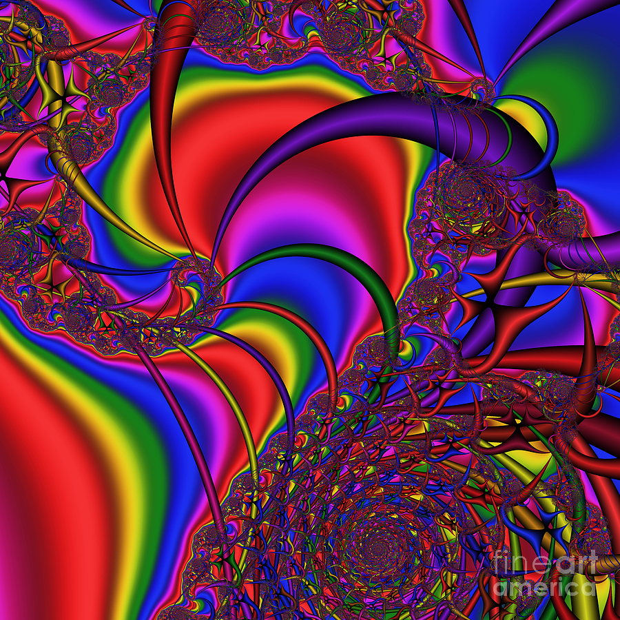 Abstract Digital Art - Mandala 164 by Rolf Bertram