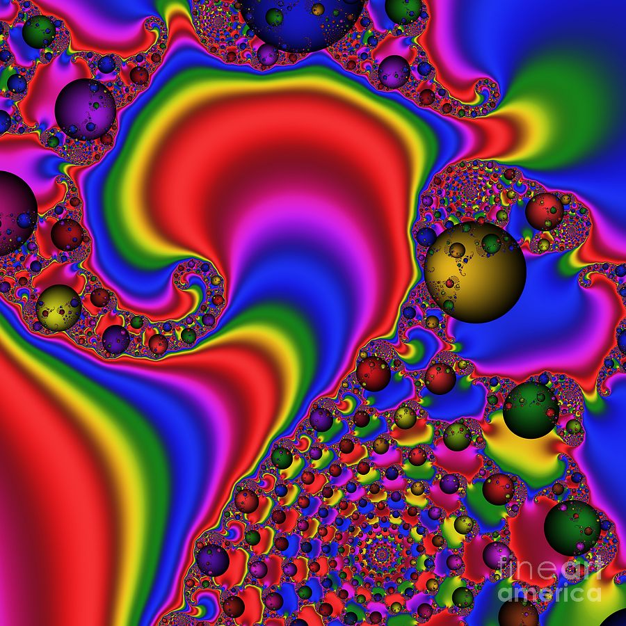 Abstract Digital Art - Mandala 165 by Rolf Bertram