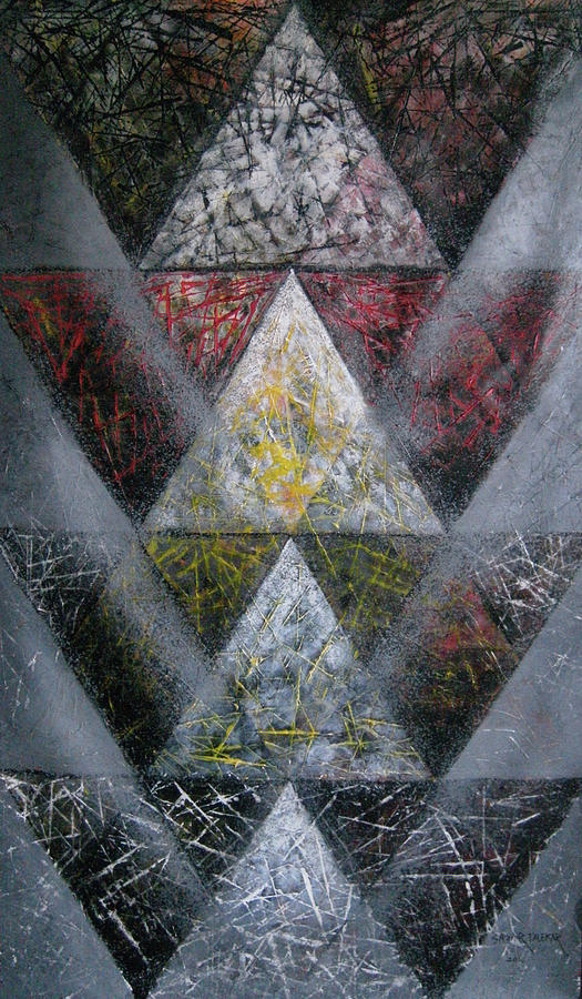 Abstract Painting - Mandala 18 by Sagar Talekar