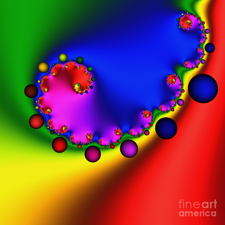 Zen Digital Art - Mandala 208 by Rolf Bertram