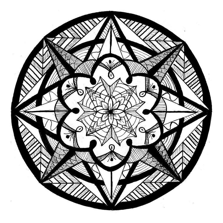 Mandala #4 - Compass Points by Eseret Art