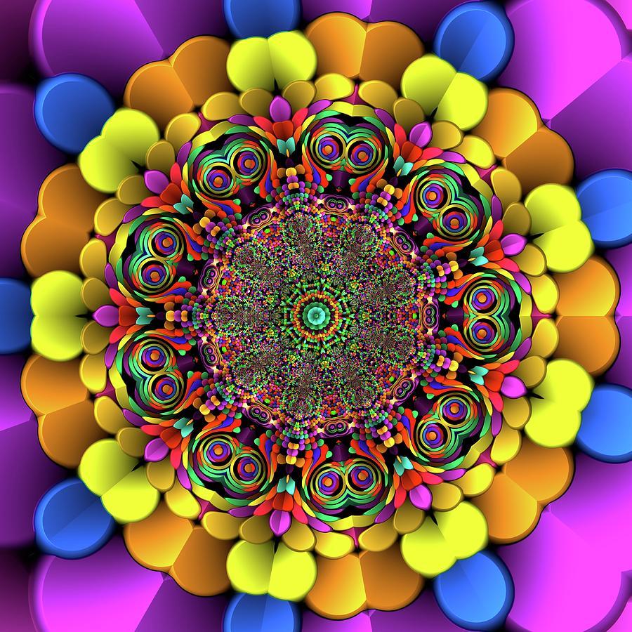 Light Digital Art - Mandala 46756767856 by Robert Thalmeier