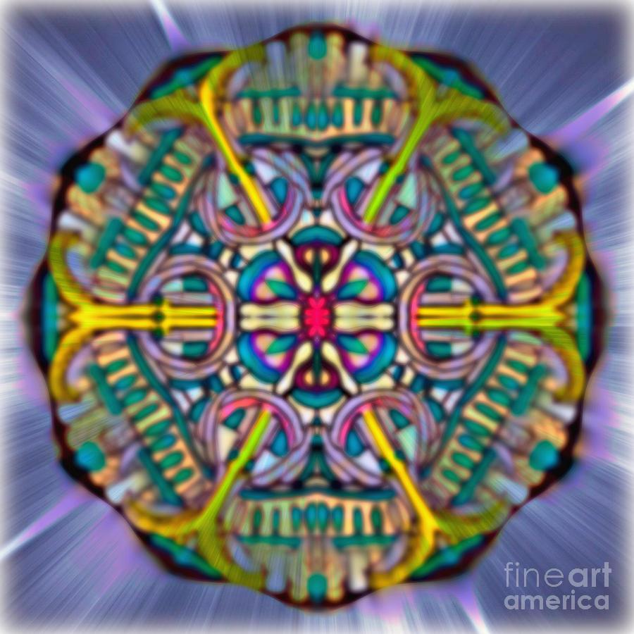 Mandala 53 Painting by Wbk
