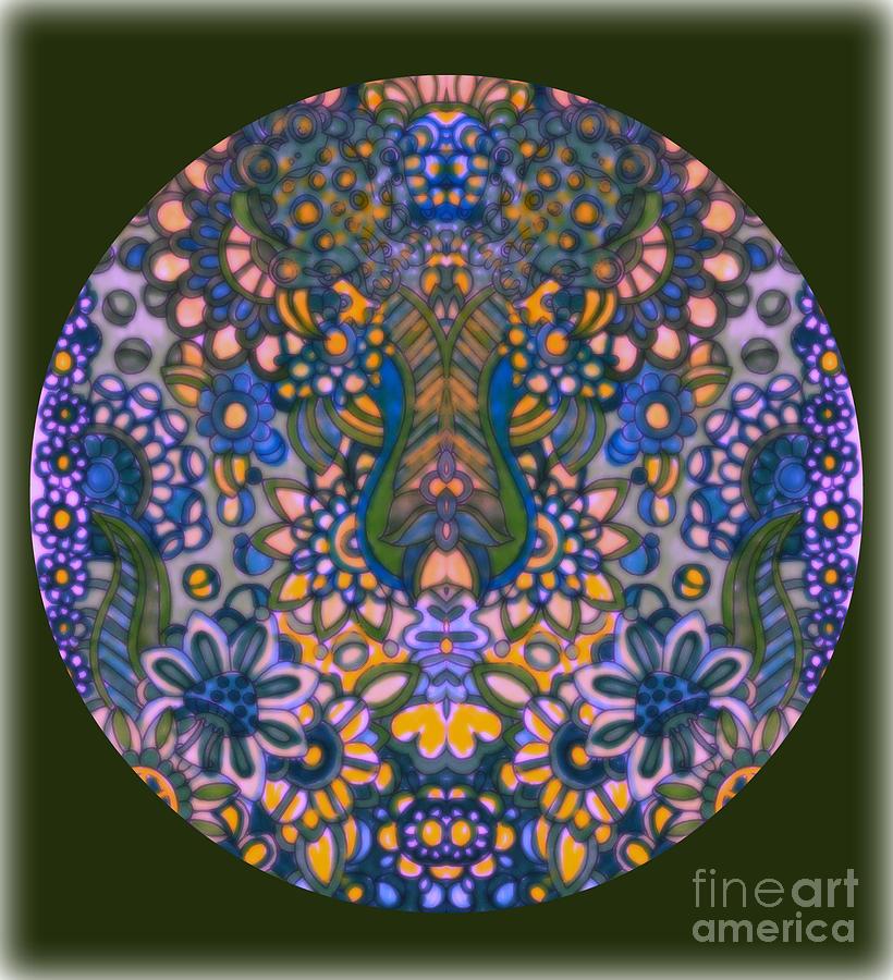Mandala 55 Painting by Wbk