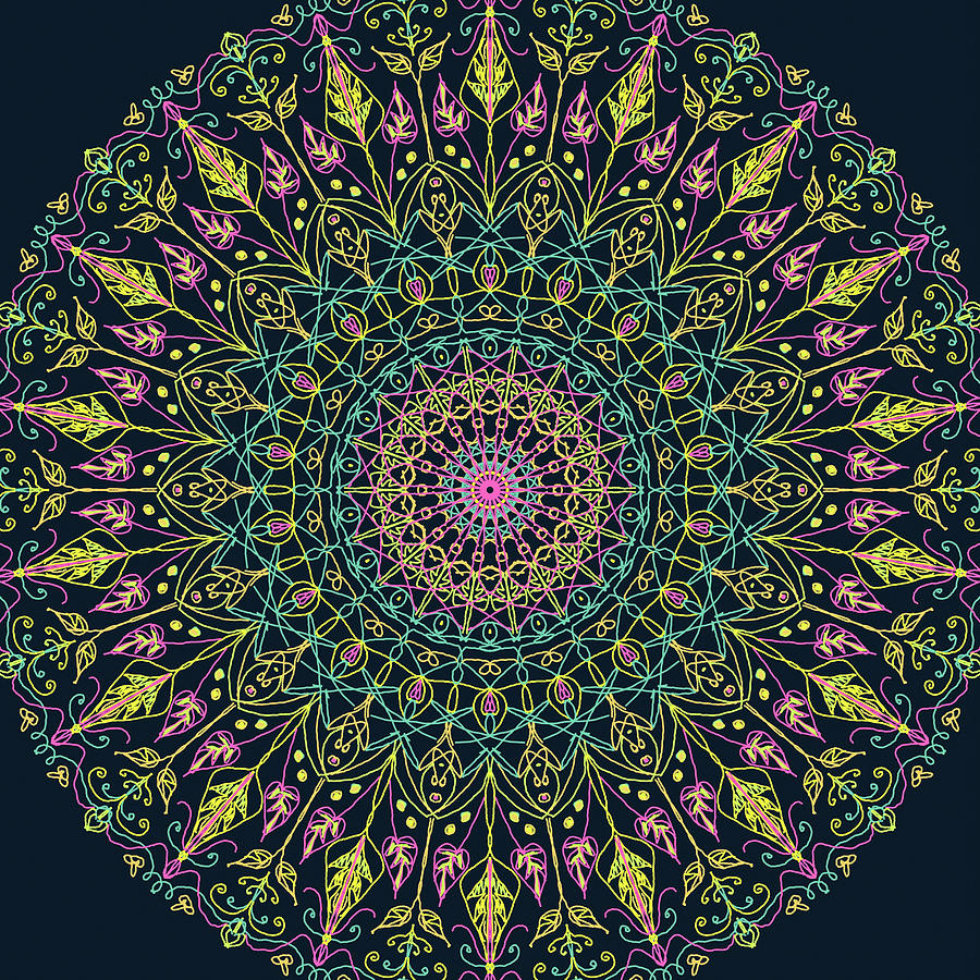 Mandala 6 by Ronda Broatch