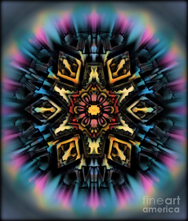 Mandala 67 Painting by Wbk