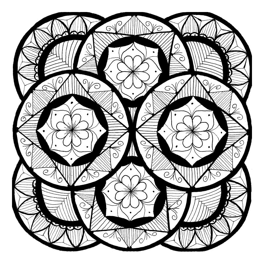 Mandala 7 , Flowers