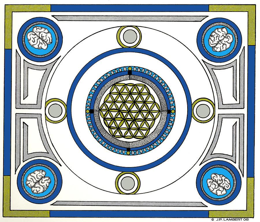 Mandala Drawing - Mandala Anese by J P Lambert