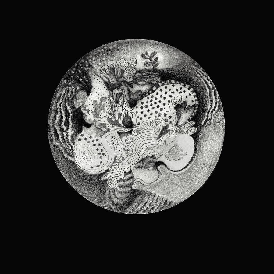 Mandala Drawing - Mandala by Ann Powell