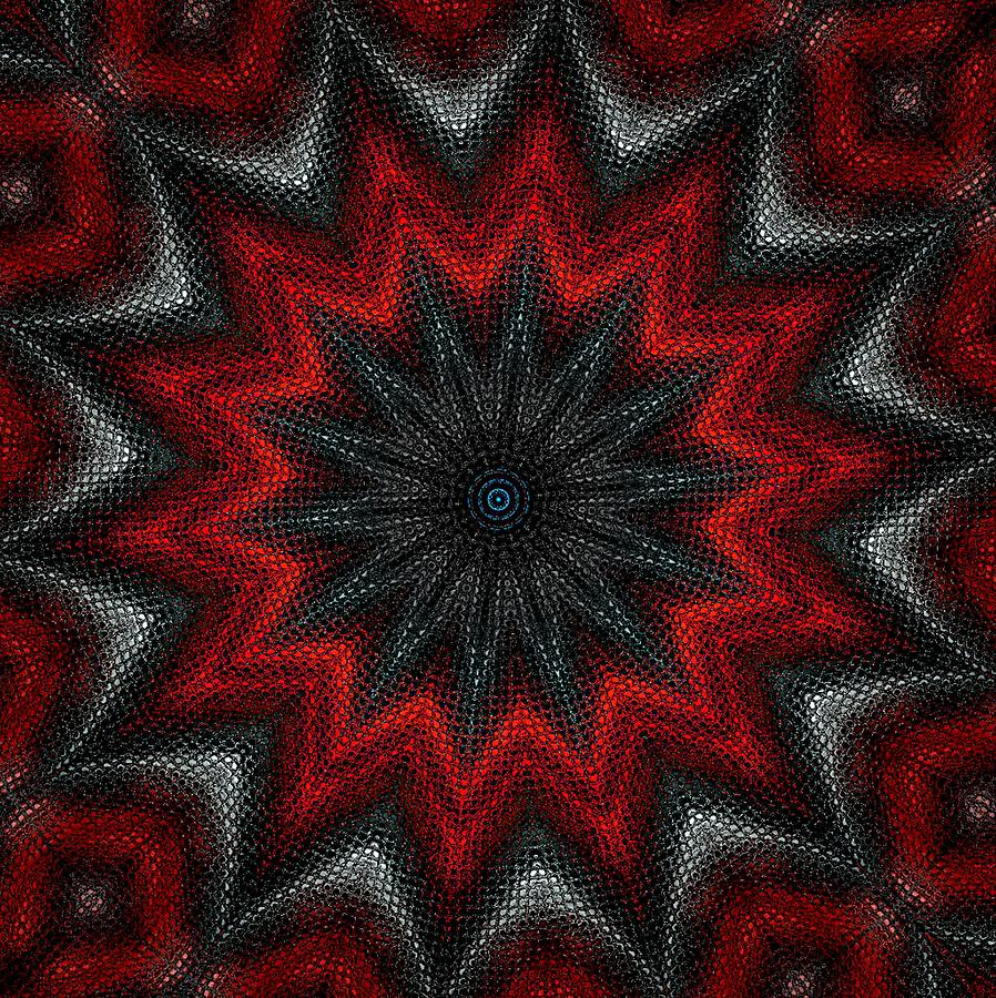 Digital Painting Digital Art - Mandala by David Lane