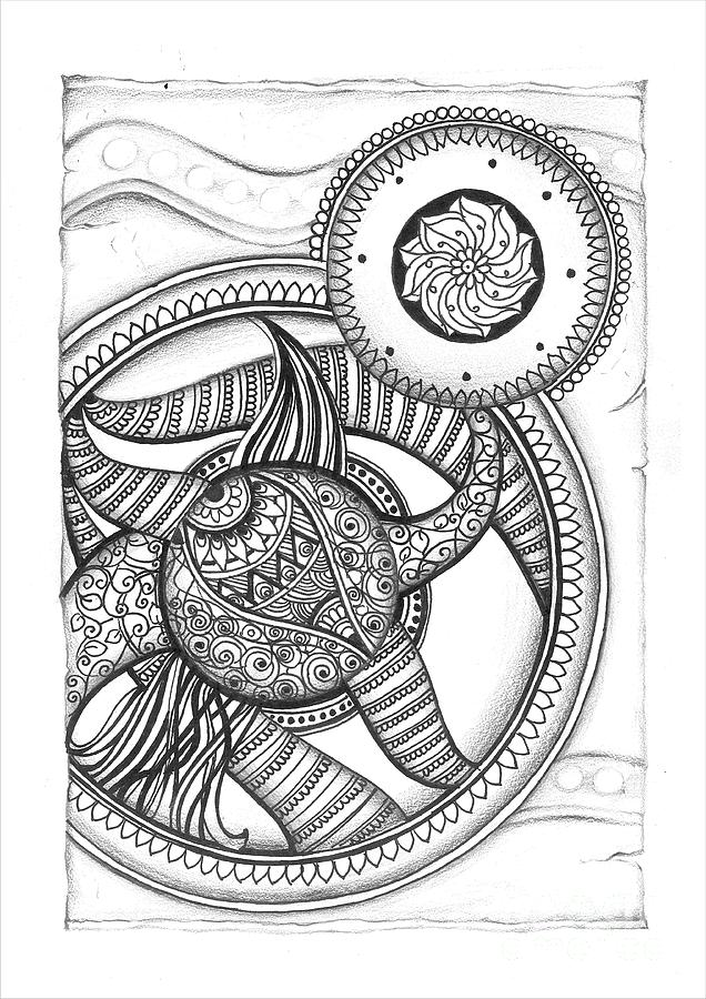 Sketch drawing mandala doodle art by prajakta p