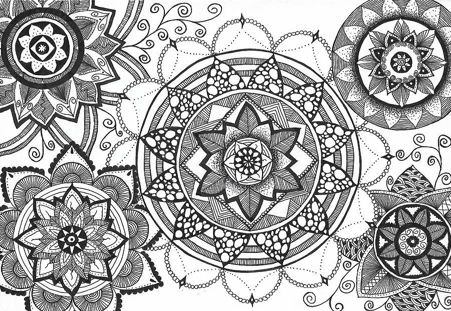 Mandala Flowers 5 In 1