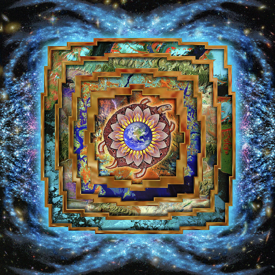 Gaia Digital Art - Mandala Gaia by Mark Myers